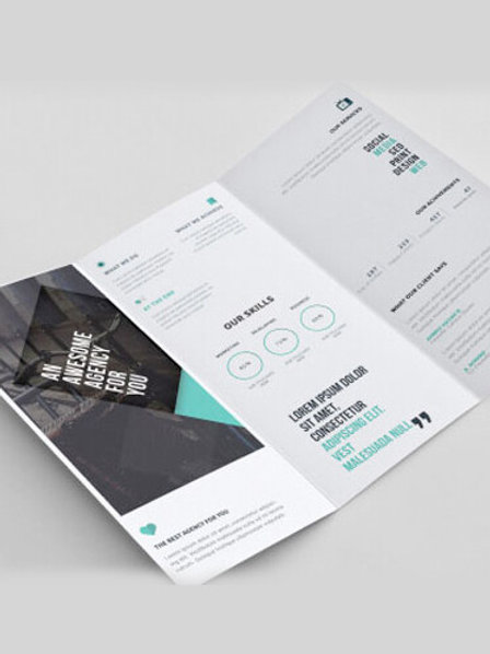 8.5x11 Brochures Printing