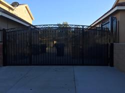 Wrought Iron RV Parking Gate