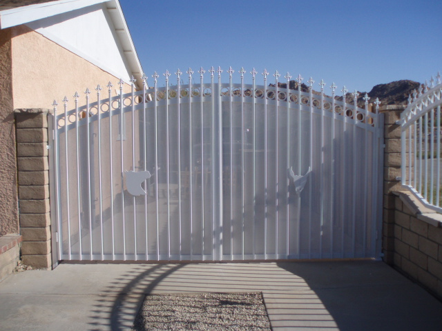 Wrought Iron Double Swing Gate