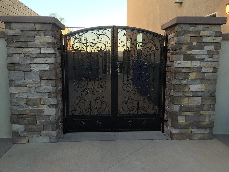 Wrought Iron Pedestrian Side Gate