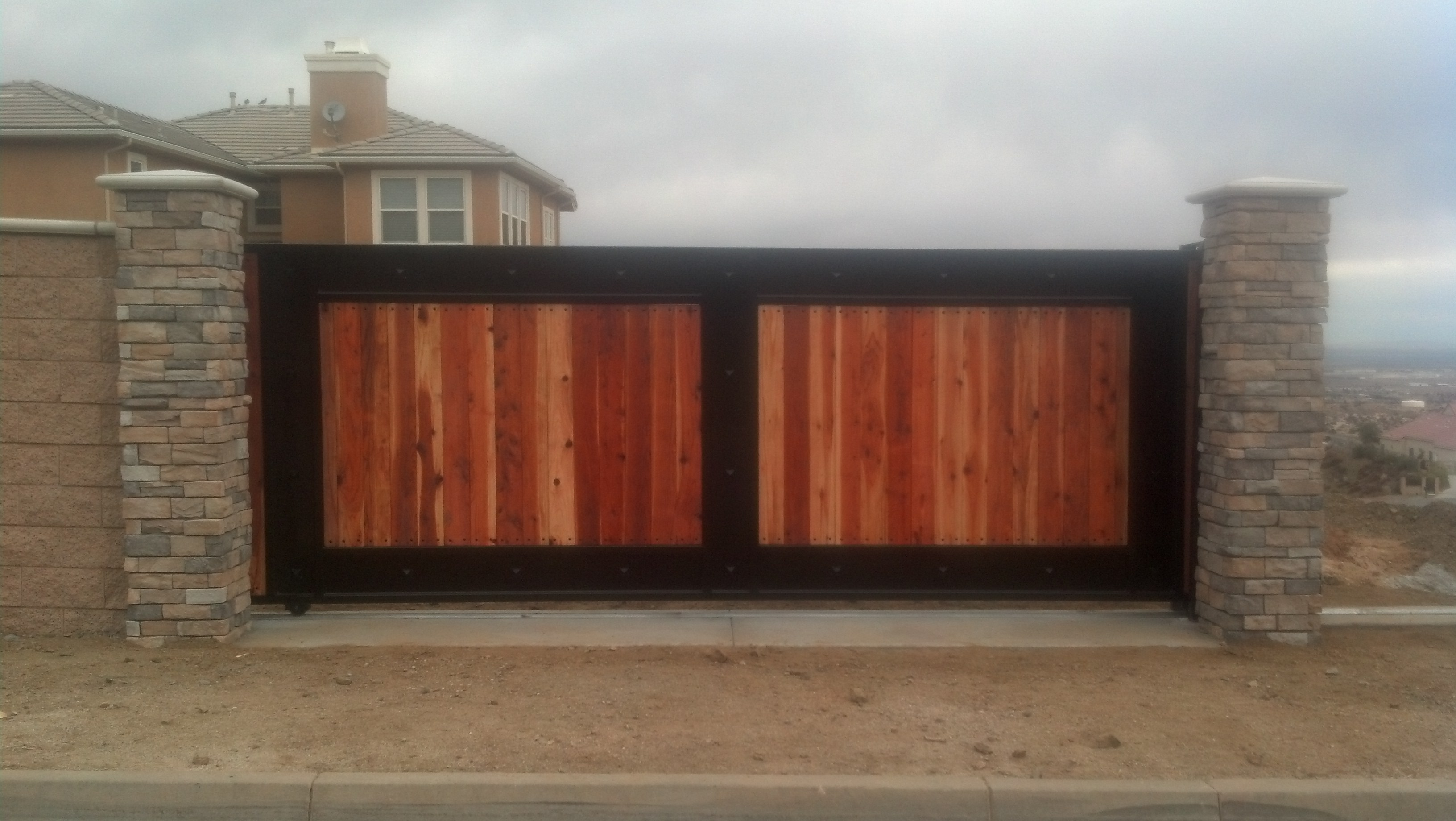 Wood Iron RV Parking Gate
