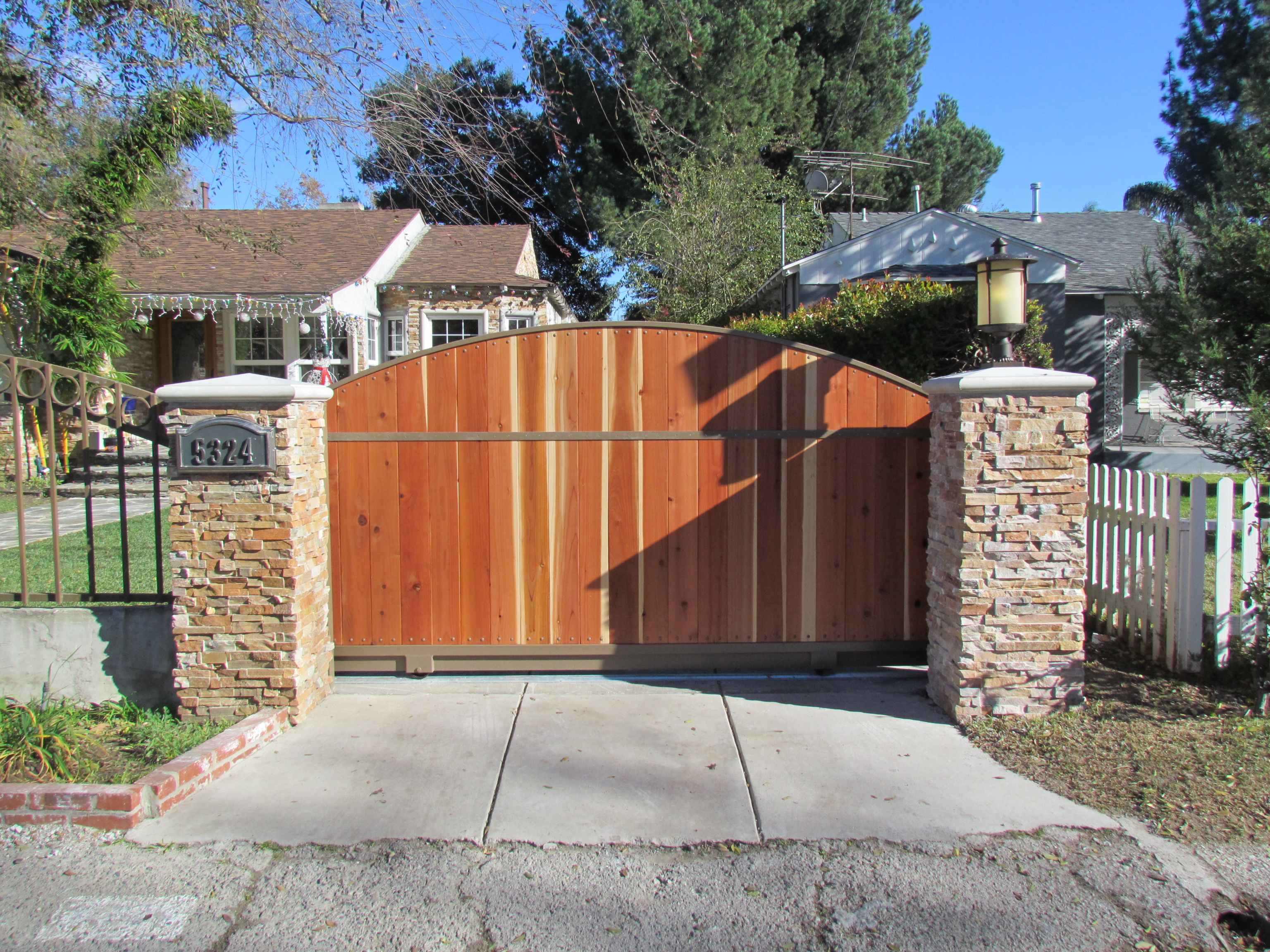 Wood Iron Sliding Gate
