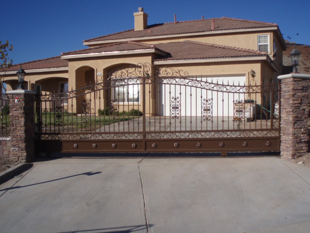 Wrought Iron RV Parking Gate