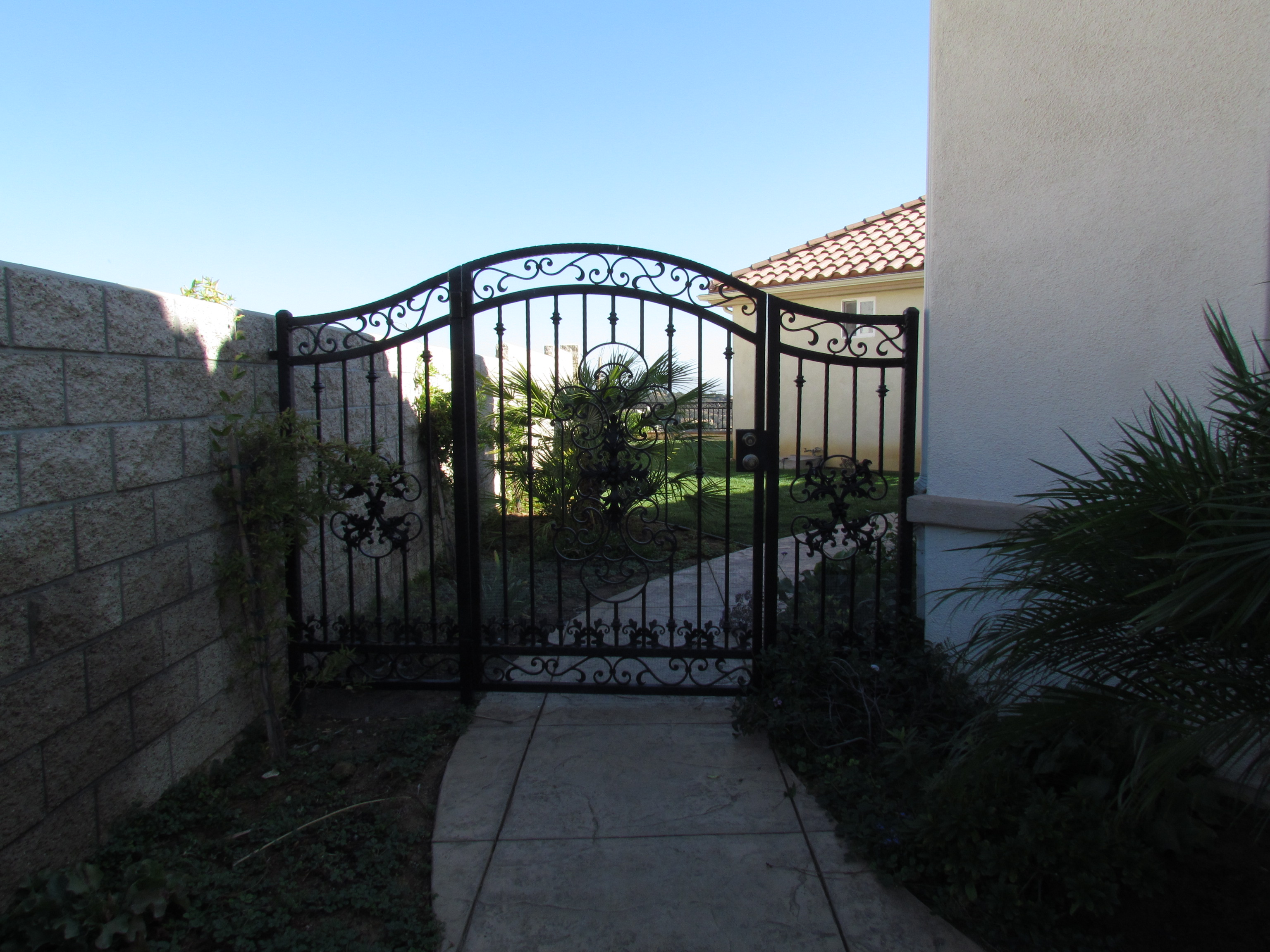 Wrought Iron Swing Single Gate