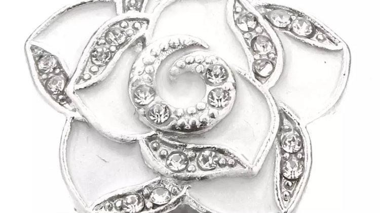 Pearl Flower/rhinestones