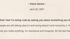 Finishing up Claire Danes Transcript
