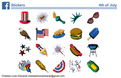4th of July Sticker Pack