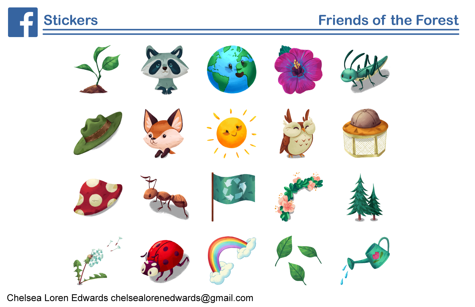 Friends of the Forest Sticker Pack