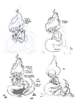 Sea Hares Sketches & Process