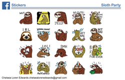 Sloth Party Sticker Pack