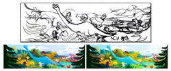 Sketches and Color Roughs