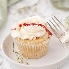 Vanilla with Raspberry Cupcake