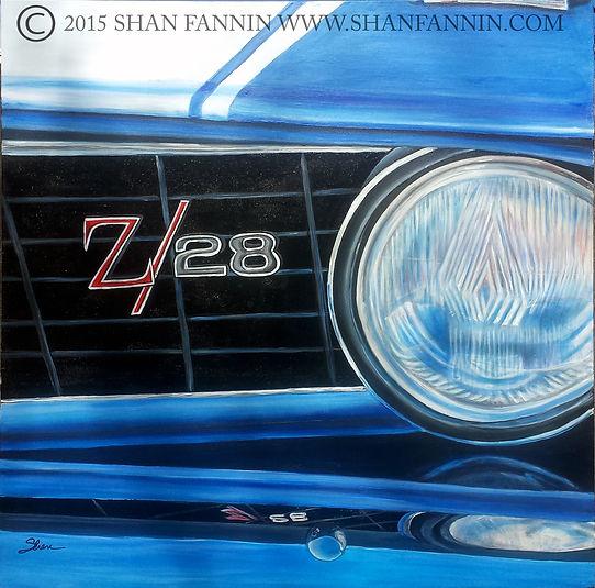 1969 Blue Camaro Z-28
