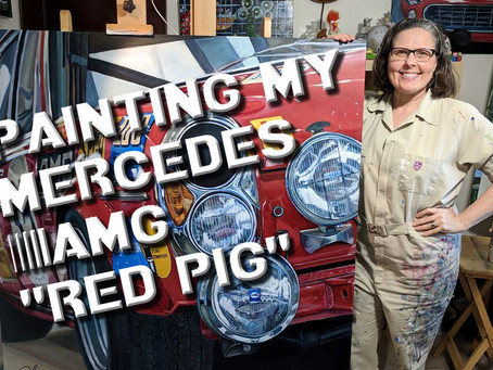 "Ep 6 - Painting my Mercedes AMG ""Red Pig"""