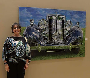 Shan with 1937 Rolls painting