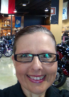 Shan at Harley dealership