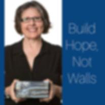 Shan holding charity brick