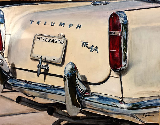 1967 Cream Triumph TR4A