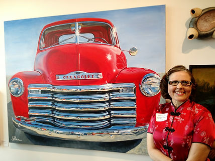 Shan and 1951 Chevy Truck