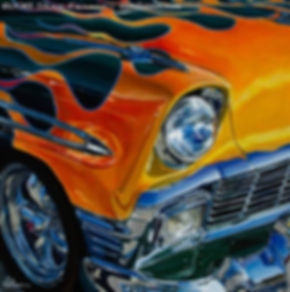 1956 Flaming Chevrolet Bel Air