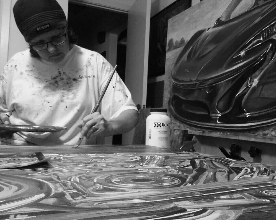 Painting a motorcycle