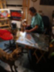 In my studio creating a Harley Davidson