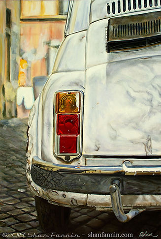 White Fiat Cinquecento