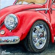 Crimson VW Bug
