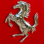 Ferrari Emblem Detail