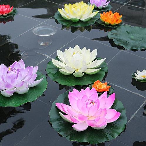 5pcs Artificial Floating Water Lily EVA Lotus Flower.