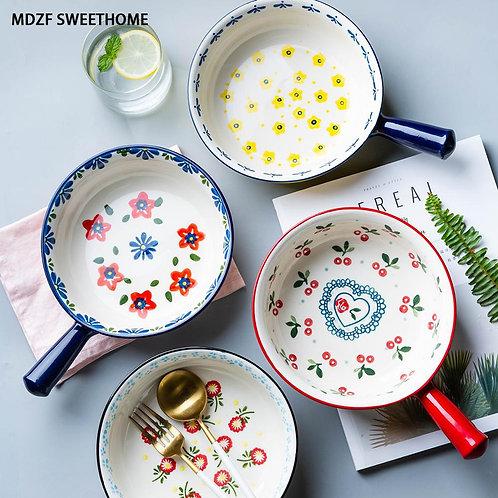 SWEETHOME Ceramic Glaze Baking Bowl .