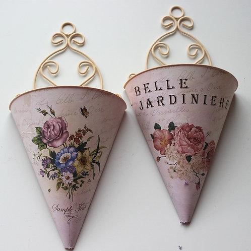Wall Vintage Flower Basket .