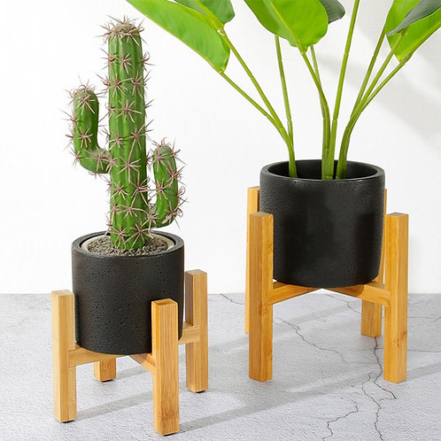Portable Single Bay Bamboo Flower Stand.