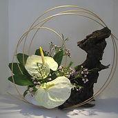 Oriental flowers arrangment/ Flowers in Chinese style, Ikebana event London