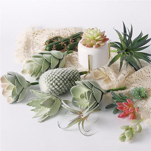 Artificial Plants Suculentas for Home Decor.