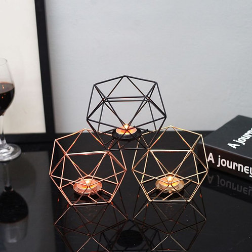 Nordic Style Geometric Iron Candlestick Candle Holders