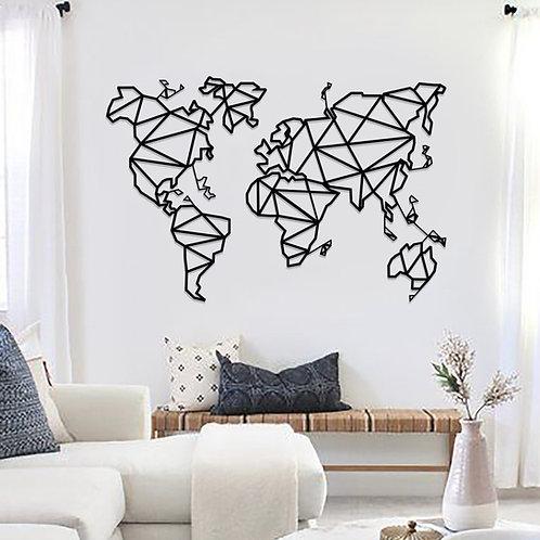 Metal Wall Decor and Art, World Map.