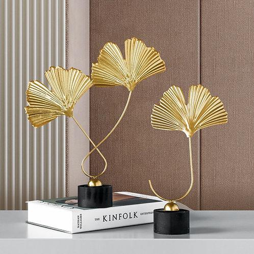 Golden Plants Flowers Ornaments Gift Home Decor
