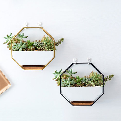 Geometric Wall Hanging Flower Pots