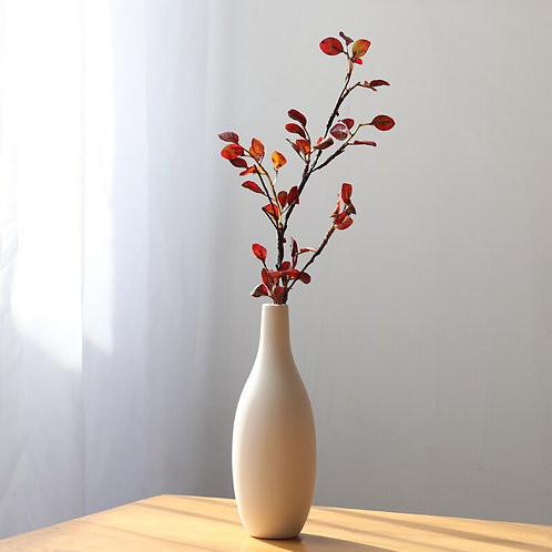 Minimalism White Ceramic Matte Flower