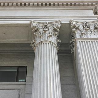 Decorative Columns, Caps, Roman Corinthian, Square Pilasters, Fluted