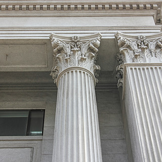 Decorative Columns, Caps, Roman Corinthian, Square Pilasters, Fluted
