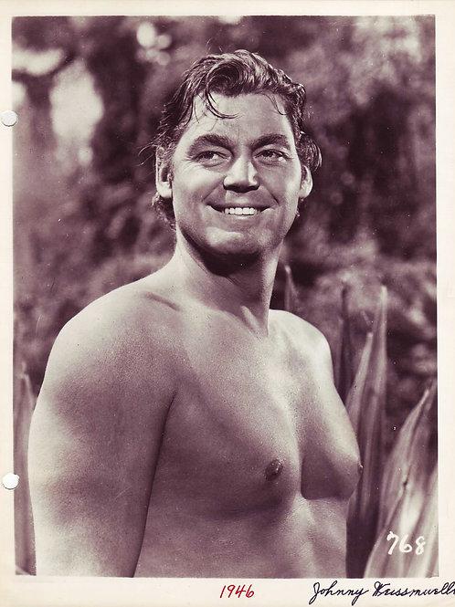 Johnny Weissmuller as Tarzan, 1946