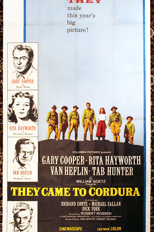 They Came to Cordura, 1959