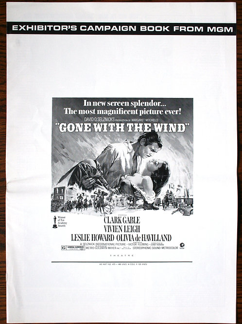 Gone With the Wind (press book 8-pg), 1939