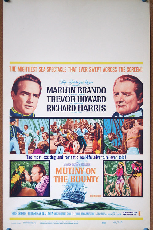 Mutiny on the Bounty, 1962