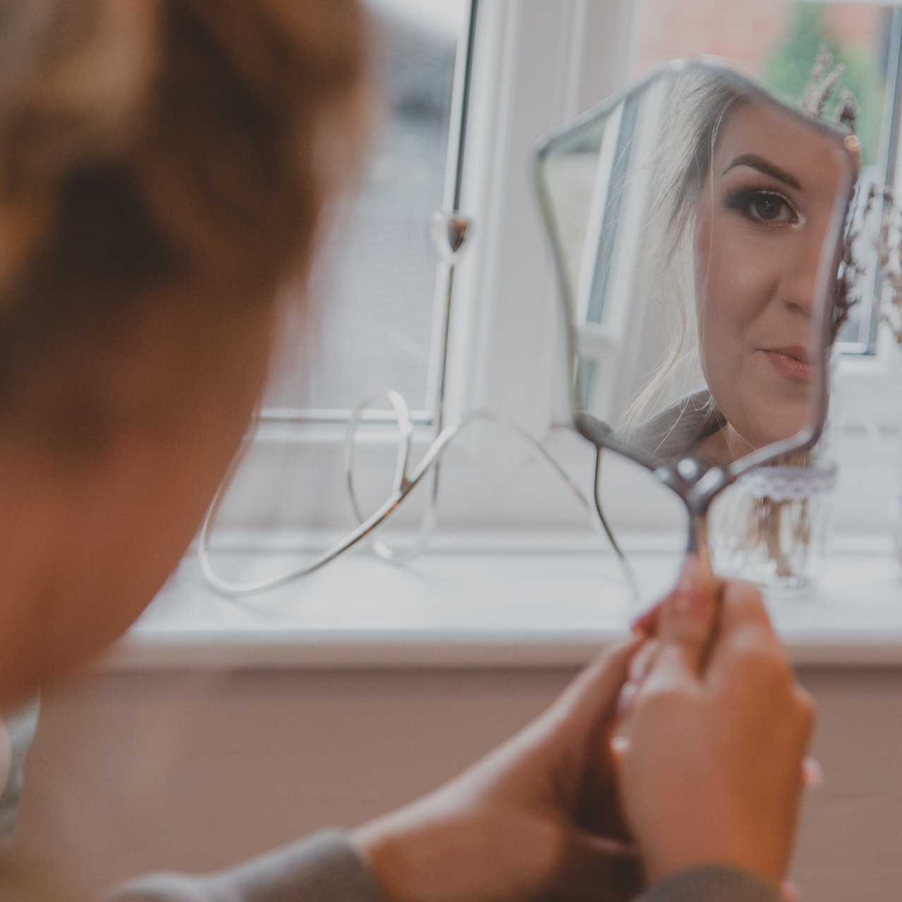 Fay Wedding - Thursford Collection at the Garden Pavilion, Norfolk. Mirror reflection