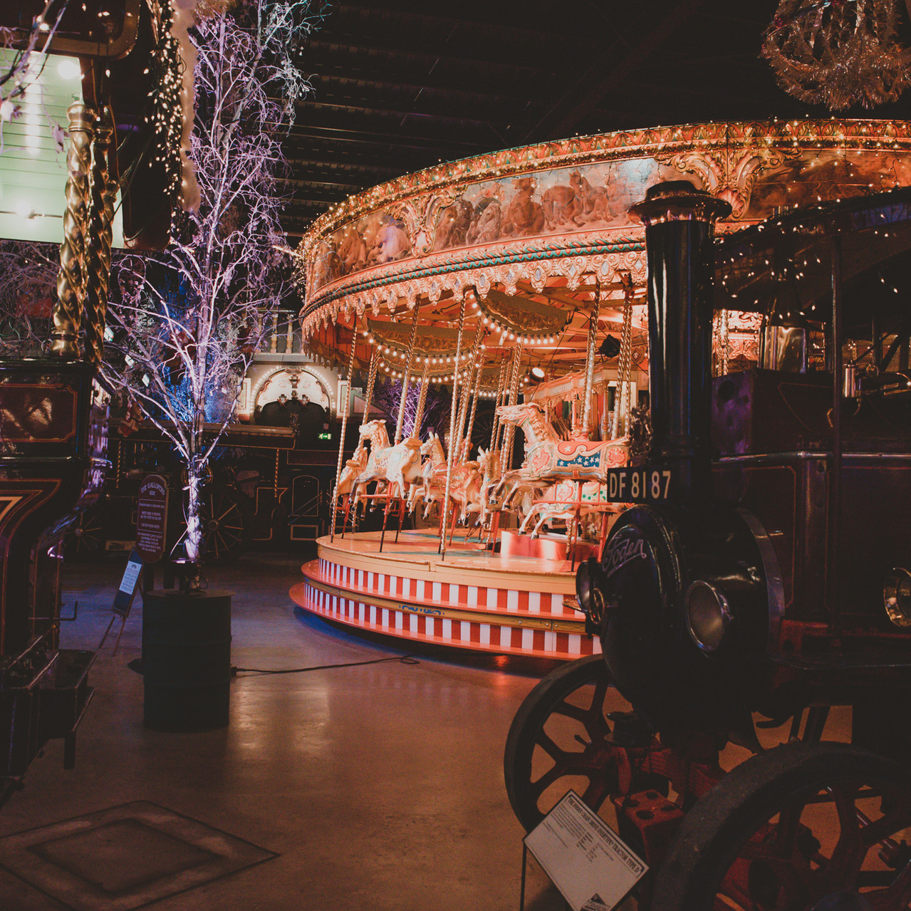 Fay Wedding - Thursford Collection at the Garden Pavilion, Norfolk. Carousel