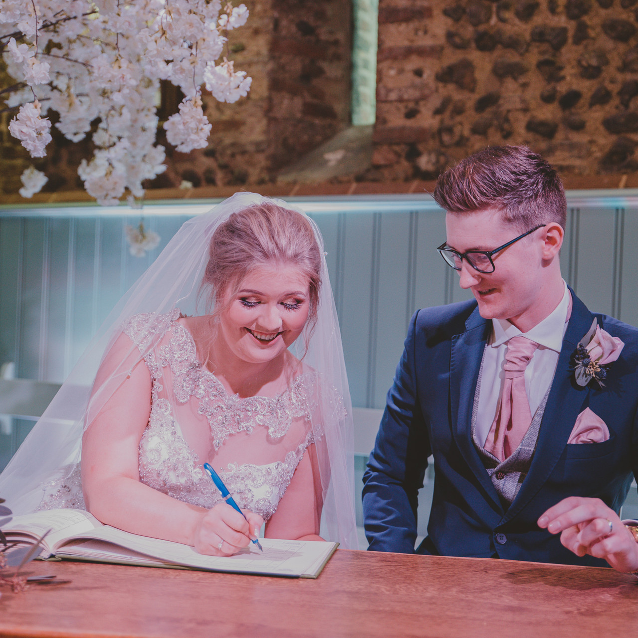 Fay Wedding - Thursford Collection at the Garden Pavilion, Norfolk. Signing
