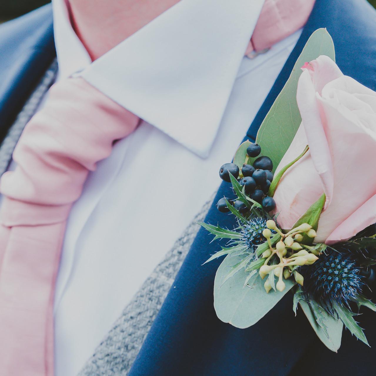 Fay Wedding - Thursford Collection at the Garden Pavilion, Norfolk. Cravat